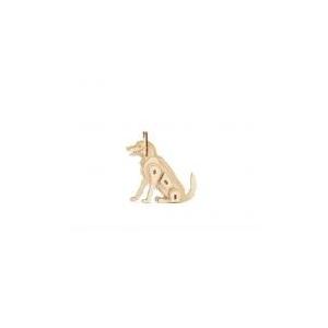 3D fa puzzle, kutya