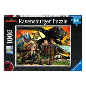Ravensburger : Így neveld a sárkányodat 3 - 100 darabos XXL puzzle