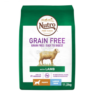 Nutro Grain Free Puppy Large Lamb 2 x 11,5 kg