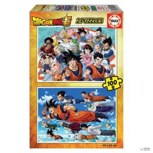 Educa Borras Puzzle Dragon gömb 2x100pz gyerek