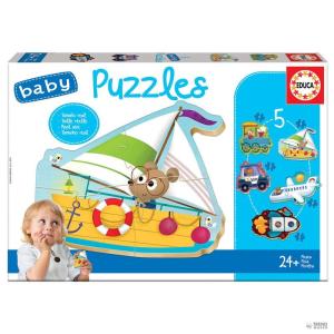 Educa Borras Puzzle jármű 2 gyerek