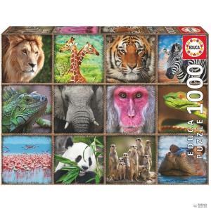 Educa Borras Puzzle Collage de állatok Salvajes 1000pz gyerek