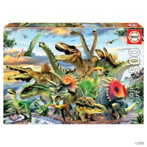 Educa Borras Puzzle dinoszaurusz 500pz gyerek