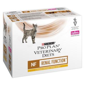 Purina Veterinary Diets 10x85g Purina Pro Plan Veterinary Diets Feline NF ST/OX - Renal Function csirke nedves macskatáp