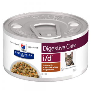 Hill's Prescription Diet 24x82g Hill´s Prescription Diet i/d Digestive Care Stew csirke nedves macskatáp