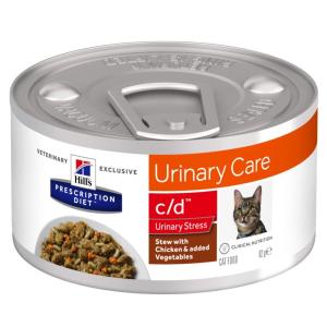 Hill's Prescription Diet Hill´s Prescription Diet c/d Urinary Stress Stew csirke macskatáp - 12 x 82 g