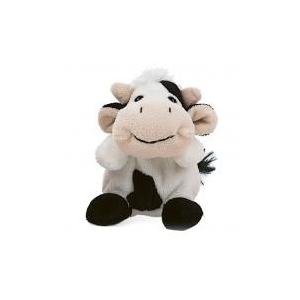 Teddykompaniet Teddy Farm babzsákállatok tehén 12 cm Teddykompaniet