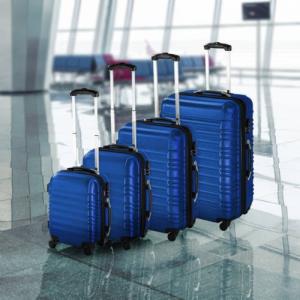 4 db-os merev falú bőrönd szett kék