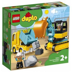 LEGO DUPLO Teherautó és lánctalpas exkavátor (10931)