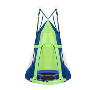 Fészekhinta sátorral 110 cm, kék