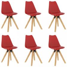 6 db piros étkezőszék bútor