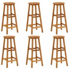 6 db tömör akácfa bárszék bútor