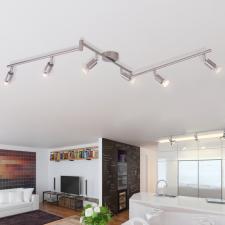 6 LED-es spot mennyezeti lámpa selyemfényű nikkel kültéri világítás