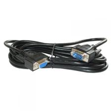 7593-PS-3 VGA hosszabbító aljzatkábel 3m árnyékolt fekete kábel és adapter