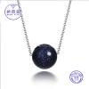 925 Sterling ezüst nyaklánc aventurin gömb medállal