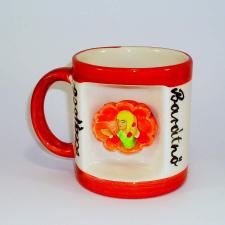 Ablakos bögre Legjobb Barátnő (Fehér, sárga csíkkal) vicces ajándék