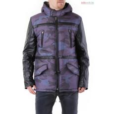 Absolut joy Férfi kabát szürke terepmintás WH4-GG0060