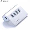 Adapter, USB hub, 4-es elosztó, USB 3.0, Orico, ezüst