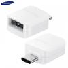 Adapter, USB Type-C - OTG átalakító (USB / Pendrive csatlakoztatásához), Samsung, fehér, gyári, EE-UN930BWE