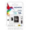 ADATA A-Data microSDHC memóriakártya 16 GB, Class10 + adapter