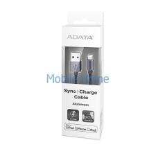 ADATA Apple iPhone titán lightning adatkábel 1M, MFI engedélyes, alumínium mobiltelefon kellék