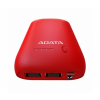 ADATA P10050 Powerbank 10050mAh Piros