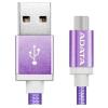ADATA Sync and Charge USB 2.0 A - USB 2.0 micro B adatkábel 1m lila