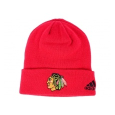Adidas Chicago Blackhawks TĂŠli sapka adidas NHL Basic Cuff Knit RED