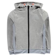 Adidas gyerek cipzáras pulóver - adidas Prime Plus Full Zip Hoody Junior Boys MedGreyMarl