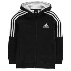 Adidas gzerek cipzáras pulóver - adidas 3S Logo Full Zip Hoody Junior Boys Black White