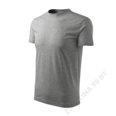 ADLER Classic ADLER pólók unisex, sötétszürke melírozott