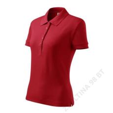 ADLER Cotton ADLER galléros póló női, piros