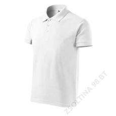 ADLER Cotton Heavy ADLER galléros póló férfi, fehér