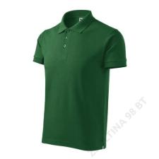 ADLER Cotton Heavy Galléros póló férfi, üvegzöld férfi póló