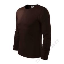 ADLER Fit-T LS Pólók férfi, kávé férfi póló