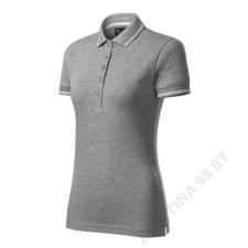 ADLER Perfection plain Galléros póló női, sötétszürke melírozott női póló