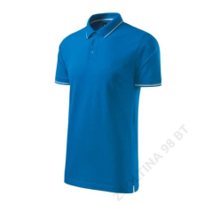 ADLER Perfection plain MALFINI galléros póló férfi, snorkel blue