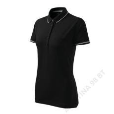 ADLER Perfection plain MALFINI galléros póló női, fekete