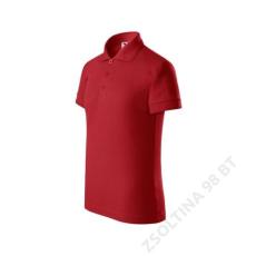 ADLER Pique Polo ADLER galléros póló gyerek, piros