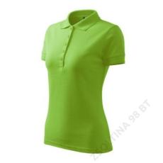 ADLER Pique Polo ADLER galléros póló női, zöldalma