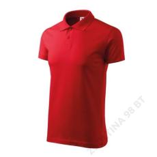 ADLER Single J. ADLER galléros póló unisex, piros