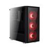 Aerocool Quartz Piros LED ATX Fekete Edzett Üveg (ACCM-PB07043.R1)
