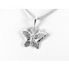 Agrianna Áttört mintás, díszes pillangó ezüst medál