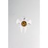 Agrianna Borostyánköves ezüst medál p-3090z