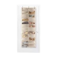 Ajtóra szerelhető cipőtároló, 160x55x16 cm, Fehér bútor