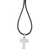 Akzent kaucsuk -nyaklánc ékszer kaucsuk , Fekete, hosszúság50 cm + 5 cm VerHosszrung / vastagság 2 mm tartalmaz nyaklánc kiegészítőaus nemesacél