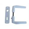 AL-LOY SB ajtókilincs 410 + ajtócím lővér kulcslyukas fehér porszórt