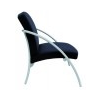 """ALBA Ügyfélváró szék, fém és szövet, ALBA """"Nova2"""", fekete"""