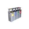 Alda Modular Hood 4 darabos kültéri fém szemétkosár készlet szelektív hulladékgyűjtésre, 4 x 70 l űrtartalom, Kapacitás: 280 L, Anyag: Fém, Súly: 56 kg, Sz%