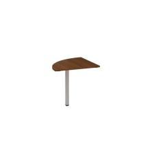 Alfa Office Alfa 200 asztal toldóelem, 80 x 80 x 74,2 cm, negyedkör, dió mintázat, RAL9022% irodabútor